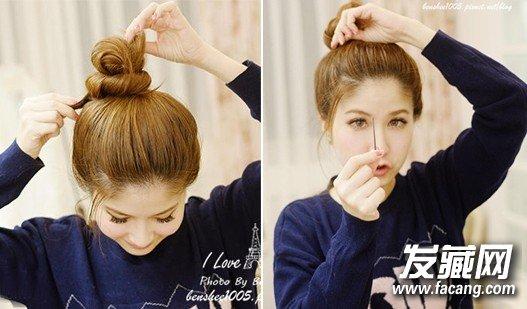 朴信惠的蓬松丸 → 丸子头的扎法图解 丸子头变得甜美可爱 →时髦丸子