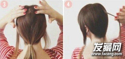 发型网 流行发型 公主头 > 编发公主头浪漫升级 披肩发发型扎法(3)