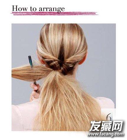 直发怎么扎丸子头 diy内扣丸子头发型图片(7)
