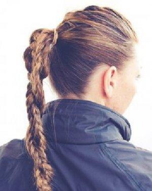 法式编发好美腻 长发编辫子发型图解