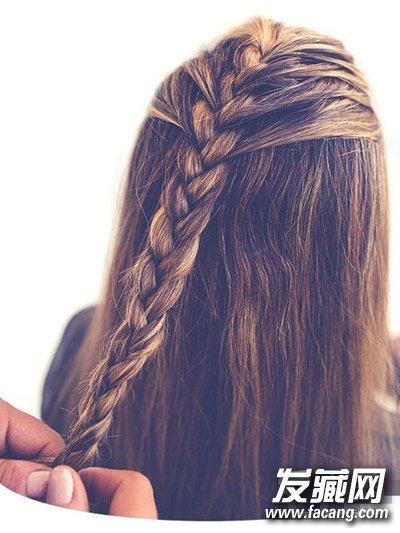 法式编发好美腻 长发编辫子发型图解(3)
