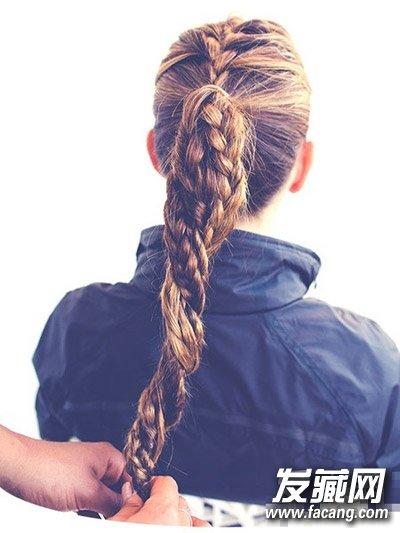 法式编发好美腻 长发编辫子发型图解(7)