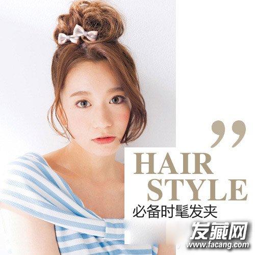 长发变短发&蓬松丸子头 时尚波波头发饰发型(4)