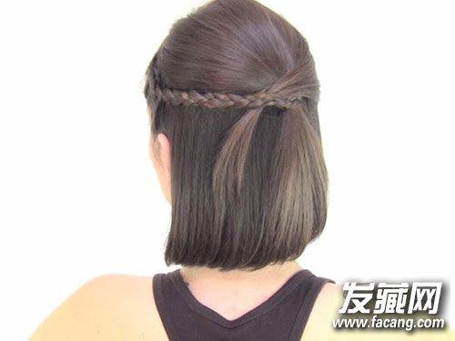 【图】刘海的简单编织 2款实用短发扎发教程_短发发型图片