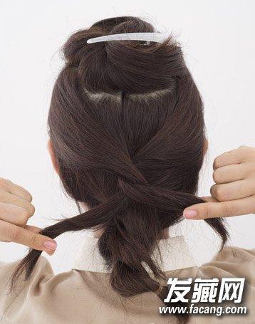 中短发也能扎蜈蚣辫 甜美双层编发diy(3)图片