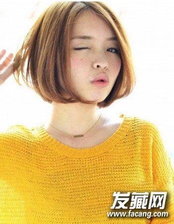十分可爱韩式中短发发型 搭配直发夏季好清爽(6)
