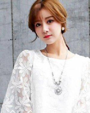 矮个女生春季发型搭配 甜美空气刘海浪漫唯美