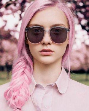 凌乱又可爱的鱼骨辫 超仙粉色染发学起来