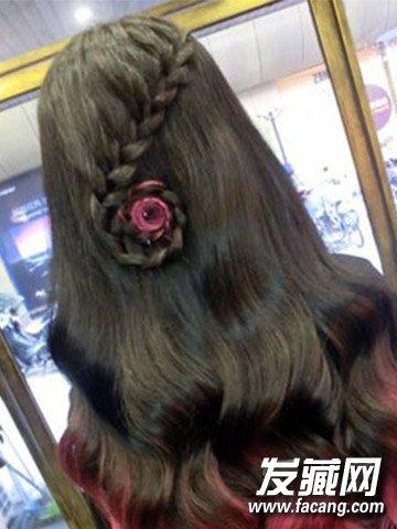 韩式小清新气质心形编发 编发发型的甜美度(6)