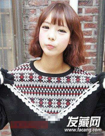 时尚韩式短齐肩烫发发型 齐肩发短发好性感