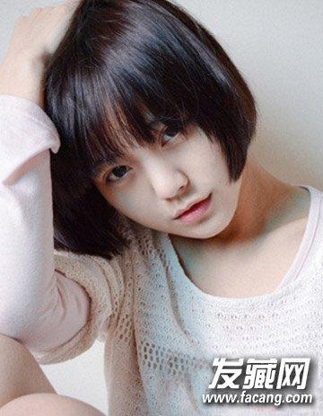 气质短发内扣梨花头发型 9款发型变身清纯美女(8)