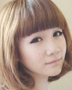 2015最流行学生韩版短发梨花头