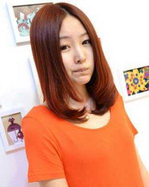 中长梨花头发型图片2,细碎的齐刘海,[查看详情.图片