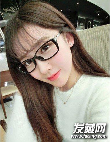 戴眼镜适合什么发型 知性文艺女青年感觉(7)