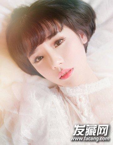清新可爱中短发烫发发型 气质韩式新娘发型(6)