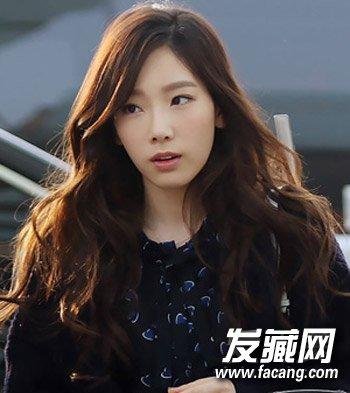 韩国女生烫发发型 蓬松烫发甜美显瘦(2)