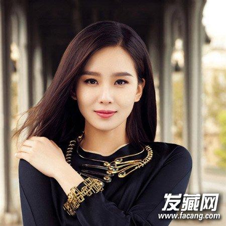 女生中发发型模板 刘诗诗俏丽演绎(6)