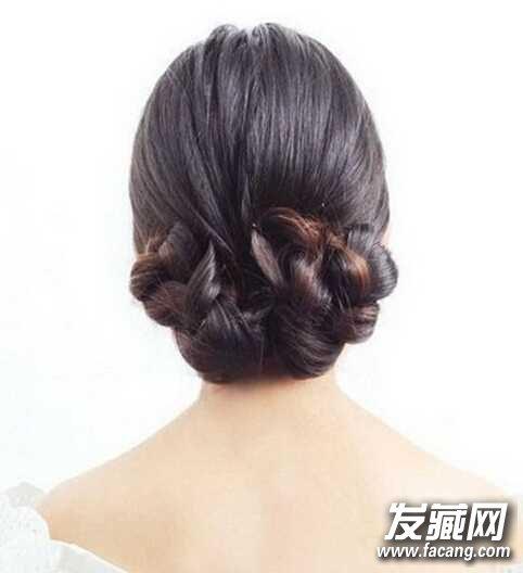 →韩式新娘盘发发型
