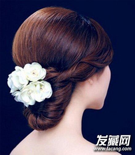 韩式新娘盘发发型 韩式新娘盘发的图解图片
