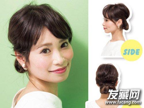 夏季如何扎出斜刘海盘发 扎头发的方法图解