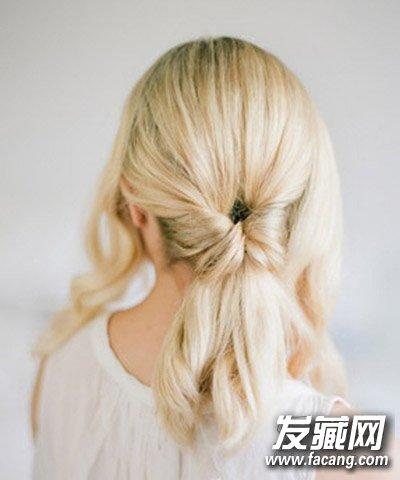 简单有气质的卷发盘发 中分盘发温婉俏丽(2)