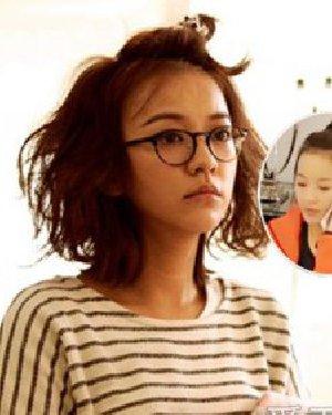 学元气少女陈意涵扎发型 露额头的短发发型
