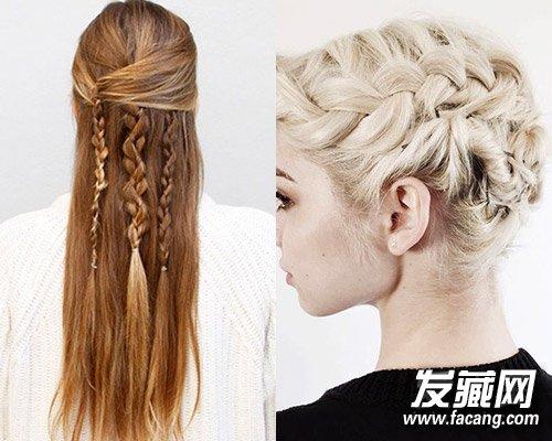【图】瀑布辫编法图解长短发都适合_麻花辫发型_发藏网图片