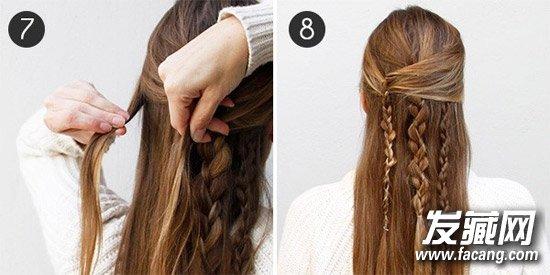 【图】瀑布辫编法图解长短发都适合(3)