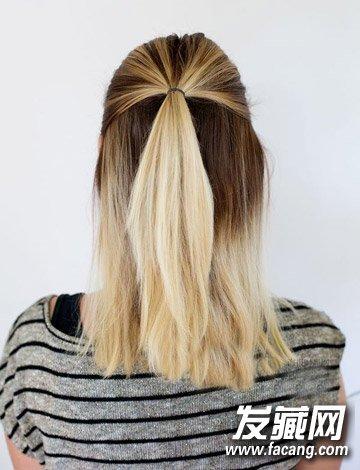 浪漫的头发编织方法 法式编发马尾辫扎法图解图片