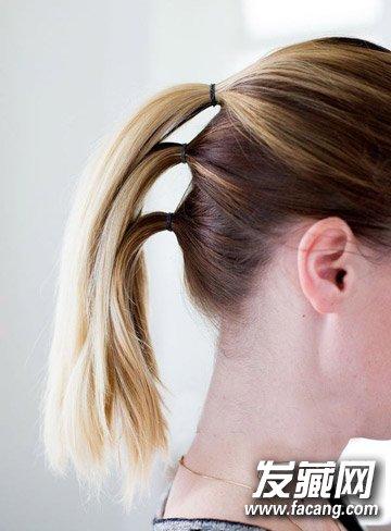 浪漫的头发编织方法 法式编发马尾辫扎法图解(2)图片