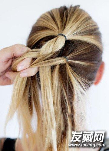 浪漫的头发编织方法 法式编发马尾辫扎法图解(3)