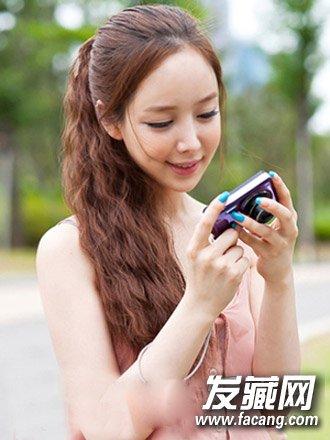 韩式马尾辫扎法空气刘海马尾 韩式发型清纯减龄(8)