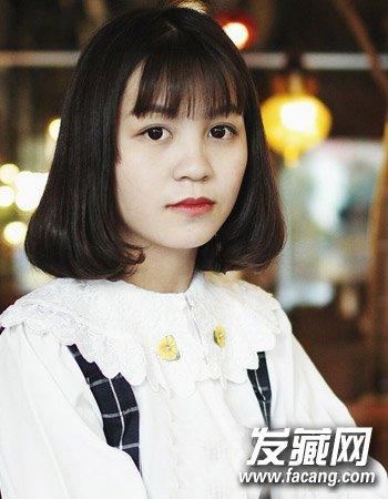 9款刘海发型清爽可爱(8)  导读:甜美的短发 梨花头 发型,发尾的小卷图片