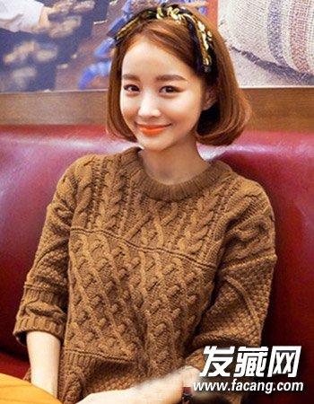 一个简单的蝴蝶结发箍更是 →2016秋冬流行发型:齐脖短发烫卷发型图片