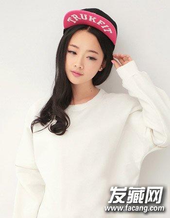 韩式中长发烫发发型 中长发最佳烫发模板(2)图片