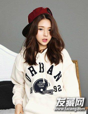 韩式中长发烫发发型 中长发最佳烫发模板(3)