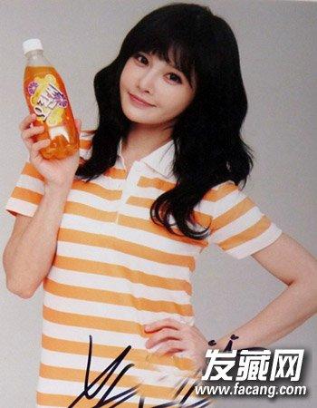 韩式中长发烫发发型 中长发最佳烫发模板(8)
