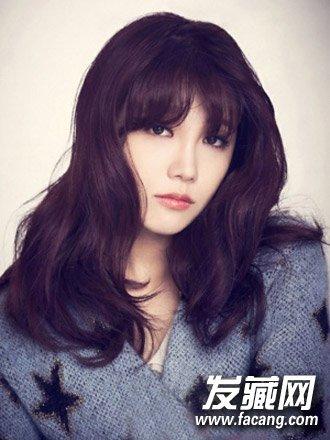 最新中长发烫发发型 韩式慵懒烫发发型(4)