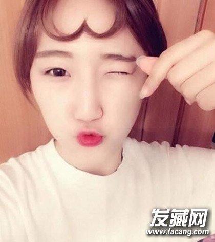 跟风韩妞勇敢示爱 心形刘海发型这么萌(4)