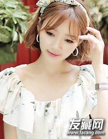 时尚女生空空气刘海短发设计 空气刘海和短发(8)图片