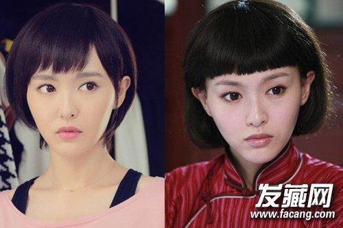 女星长短发对比 唐嫣日常造型甜美可爱