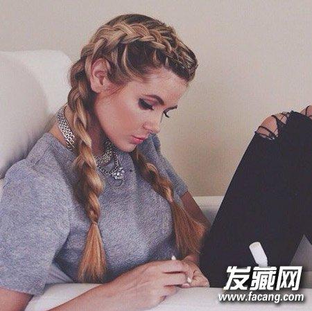 编头发的步骤及图片 教你编花式麻花辫 9
