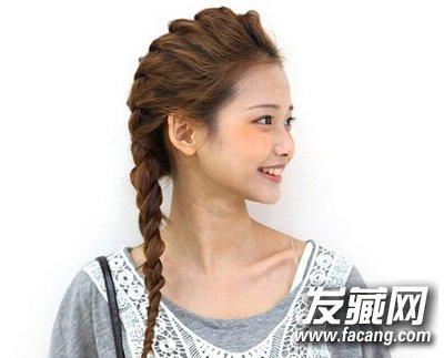 长发编辫子发型扎法 diy个性蝎子辫(2)