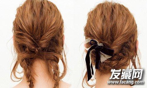 2款简单盘发教程 长发短发都适合(4)