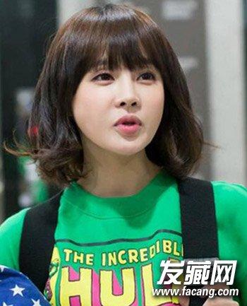 韩国短卷发发型 跟风韩妞试试这些款(5)