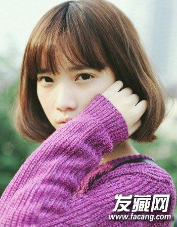 女生齐脖短发盘点 颇有日式学生头发型(4)图片