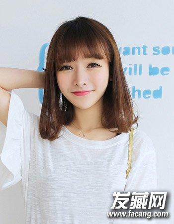9款内扣梨花头发型 简单的齐刘海造型设计
