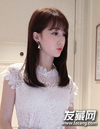 9款内扣梨花头发型 简单的齐刘海造型设计(9)