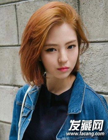 女生最新中短发发型十分帅气的露额短发齐刘海后悔图片