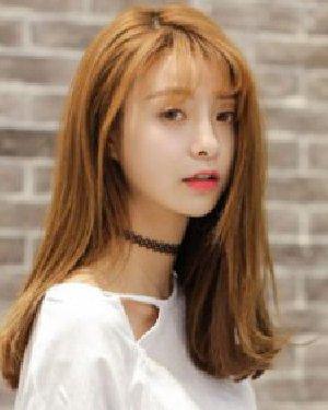 甜美的空气刘海发型设计 9款时尚长发发型图片图片